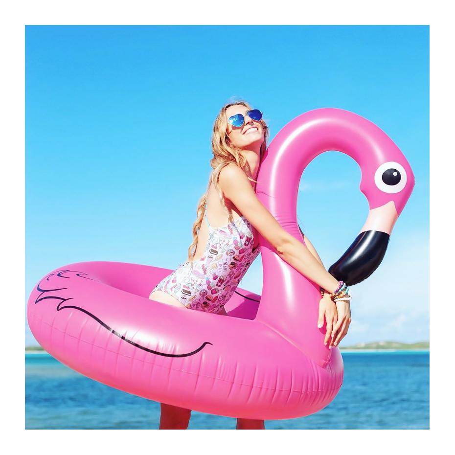Giant Flamingo Pool Float Rubber Ring