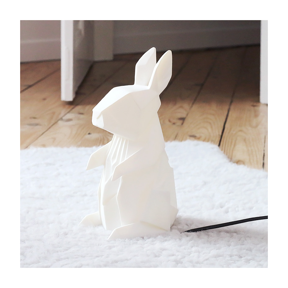 origami rabbit lamp. Black Bedroom Furniture Sets. Home Design Ideas