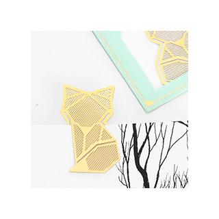 Gold bookmark - fox
