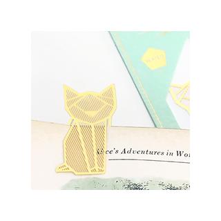 Gold bookmark - cat