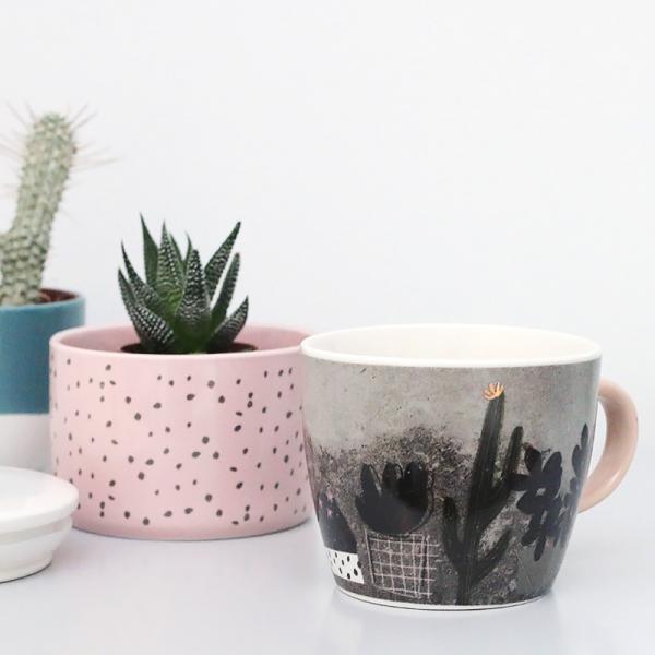 Pretty cactus cup