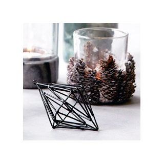 Black 3D ornament