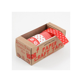 Red patterns tape