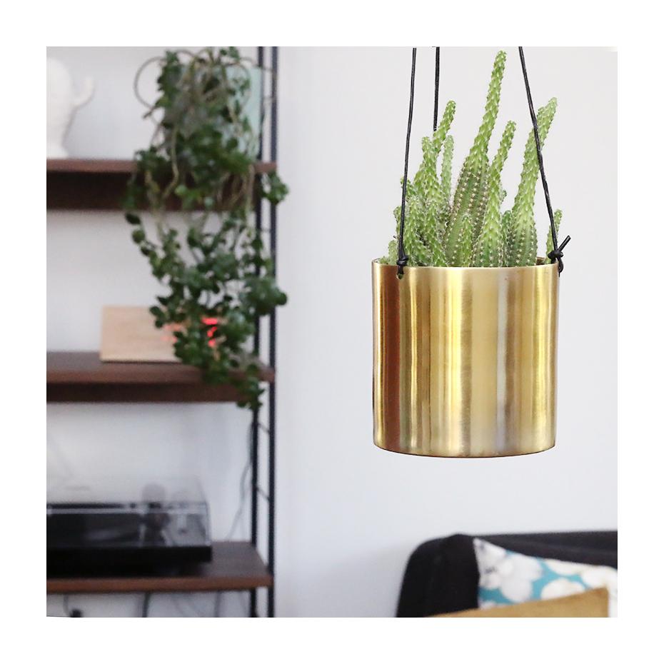 cache pot en laiton dor suspendre par sass belle. Black Bedroom Furniture Sets. Home Design Ideas