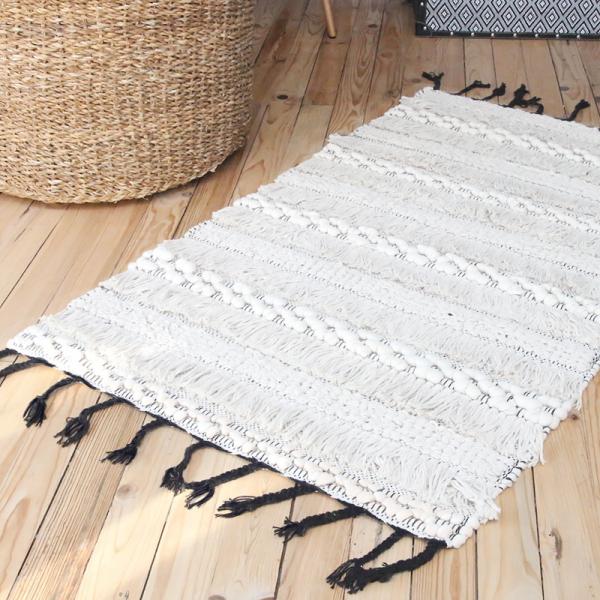 tapis en coton style berb re par madam stoltz. Black Bedroom Furniture Sets. Home Design Ideas