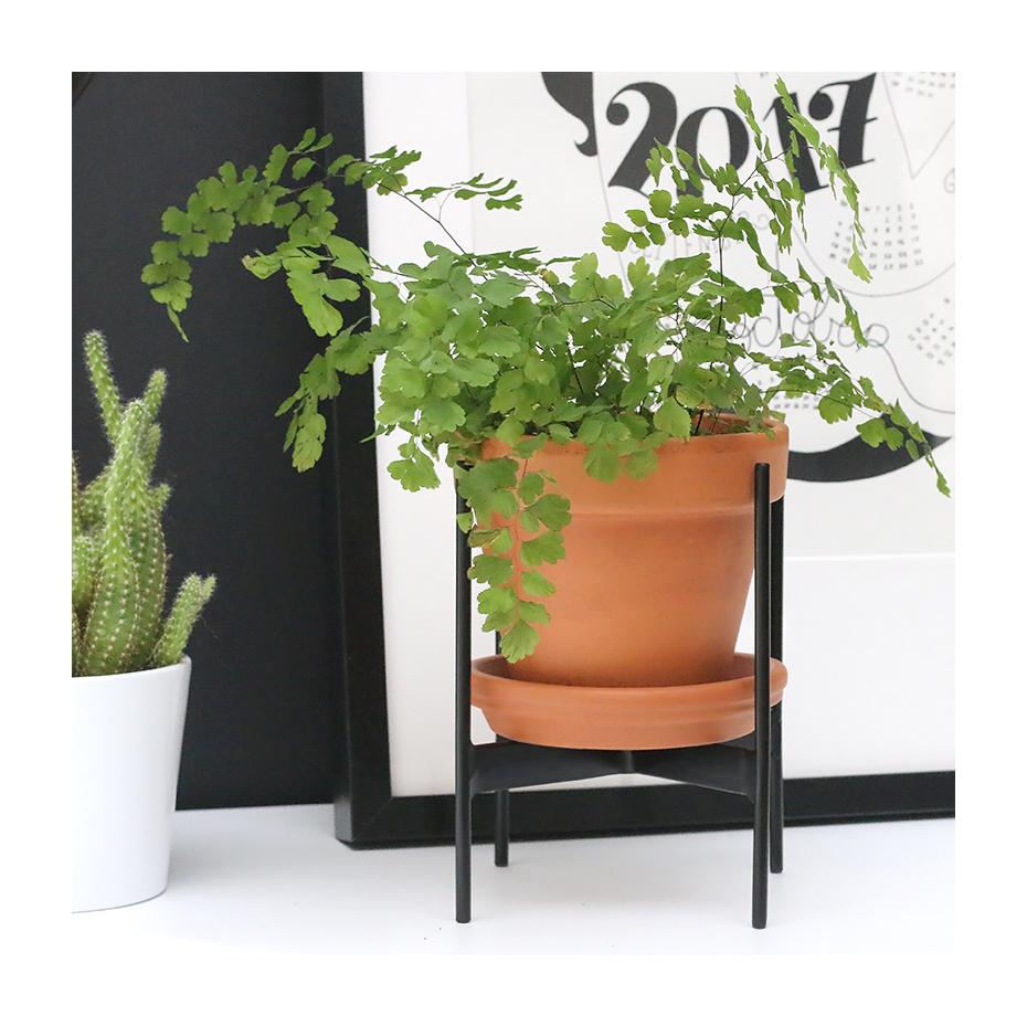 Porte plante en m tal noir par madam stoltz - Porte plante ...