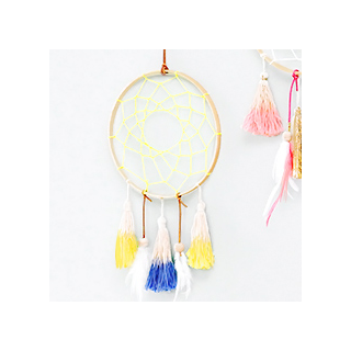Blue and yellow dreamcatcher
