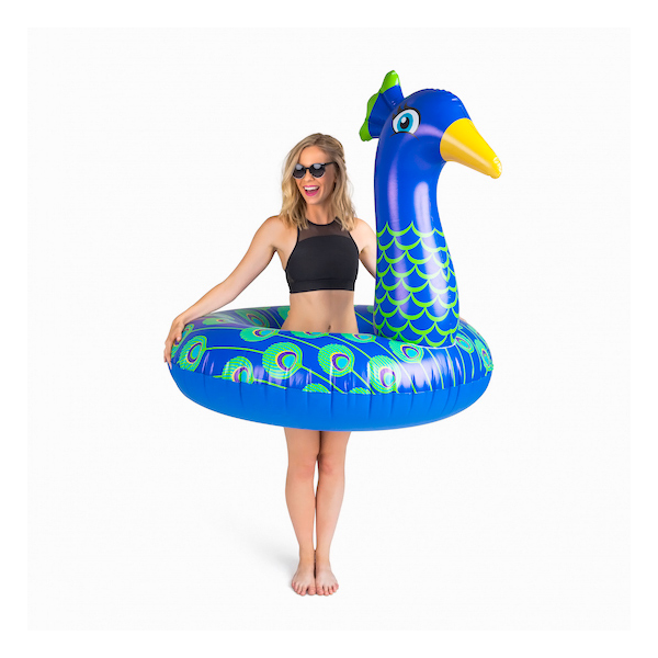 Inflatable peacock