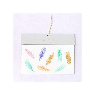 Meri Meri tattoo - colorful feathers