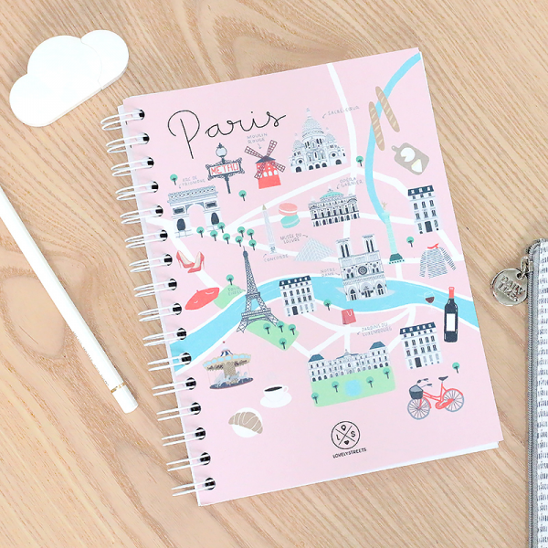 Lovely streets - Paris notebook