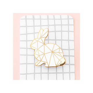 Geometric white bunny
