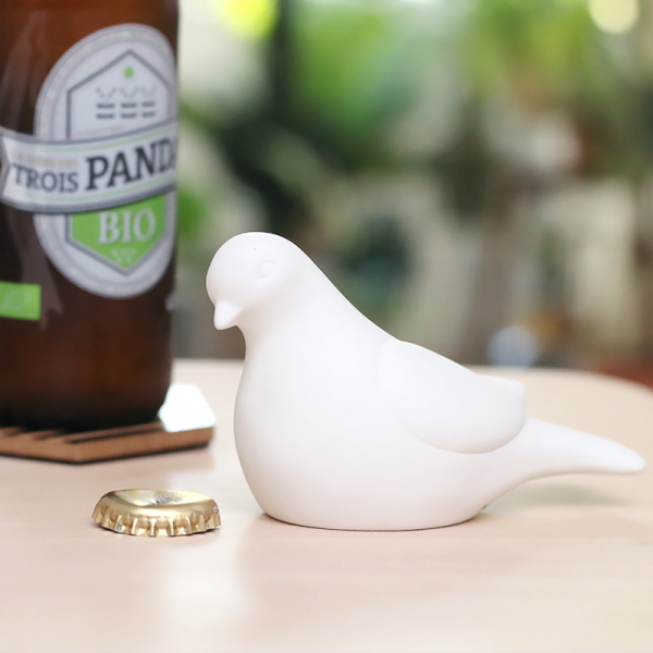 Dove bottle opener