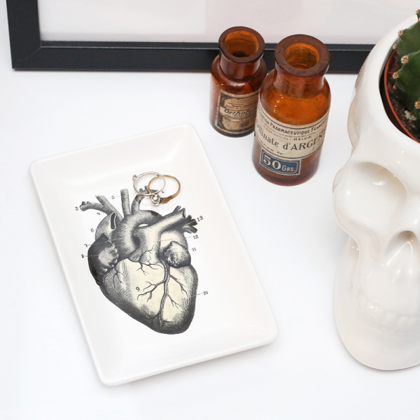 Heart trinket tray