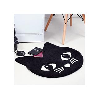 Chat noir - tapis