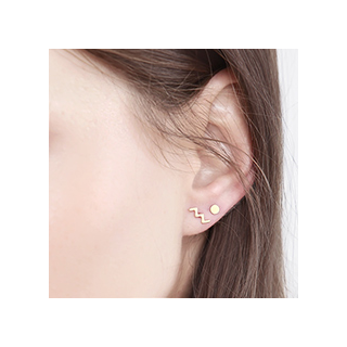 Clous d'oreilles - Zigzag earrings