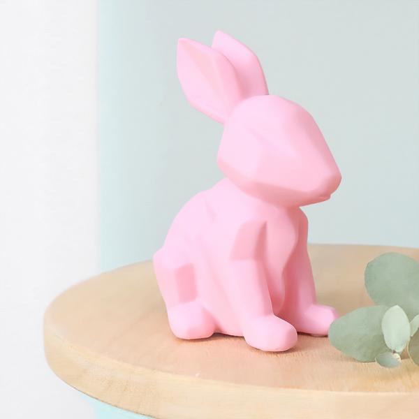Origami bunny night - rose