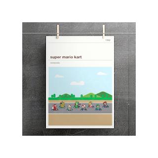 Affiche jeux vidéo - Mario Kart