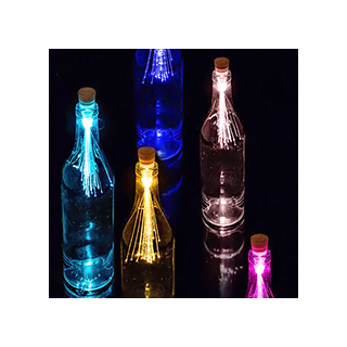 Fibre optic bottle light