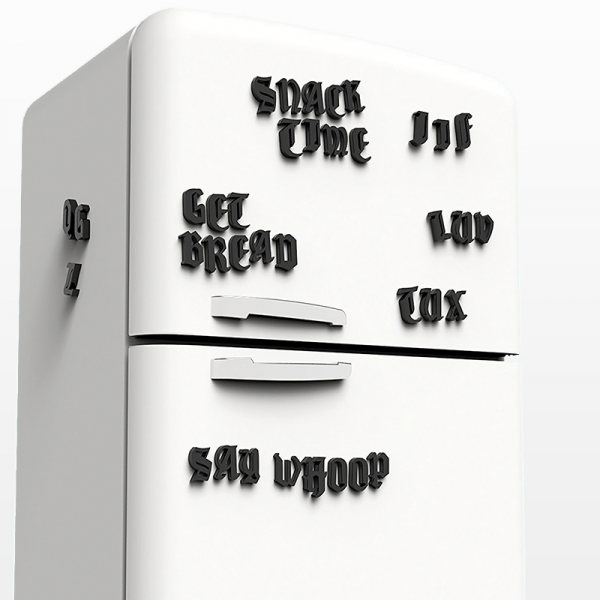 Old school tattoo fridge fonts