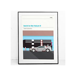 Affiche cinéma - Retour vers le futur