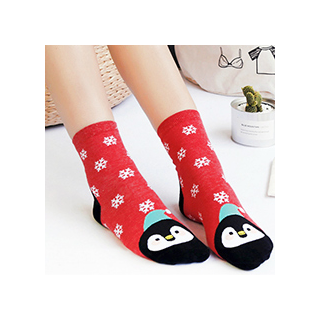 Winter animals socks