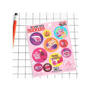 I heart lady bits - stickers