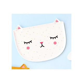Polkaros plate - cat