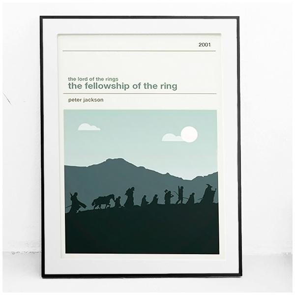 Affiche cinéma - Le seigneur des anneaux