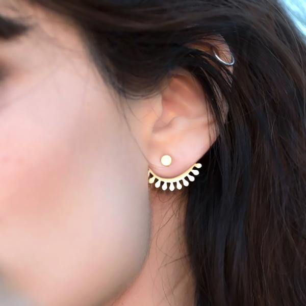 Clous d'oreilles - Esmeralda